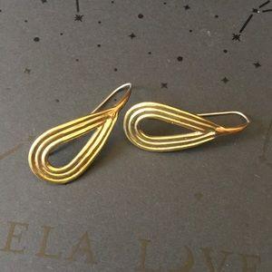 NWT Pamela Love Arco Earrings Brass